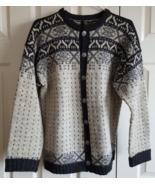 Sweater Figgjo Vintage Pure New Wool Styled Made In Norway Metal Moose B... - $29.99