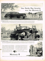 Vintage 1940 Magazine Ad Mercury Our Derby Day Favorite Was The Mercury 8 - $5.93