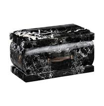 Stone Casket Natural Onyx Cremation Ashes urn For Adult Funeral urn memo... - $176.52