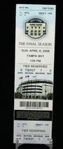New York Yankees vs Tampa Bay Rays MLB Ticket w Stub 04/06/2008 Final Se... - $8.08