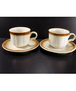 Vintage PROVINCIAL by MIKASA STONEWARE Whole Wheat COFFEE CUP & SAUCER Set of 2 - $7.91