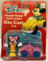 Vintage Disney 1985 Minnie Mouse collectible die cast car No. 6198  - $14.01