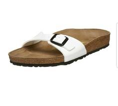 Birkenstock Women's Arizona Sandal Habana Narrow 40 White thongs shoes - $65.11