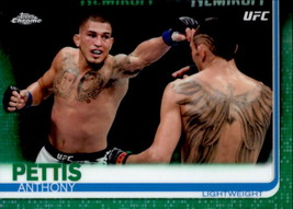 Anthony Pettis 2019 Topps Chrome UFC Green Parallel Card #22 19/99 - $3.00