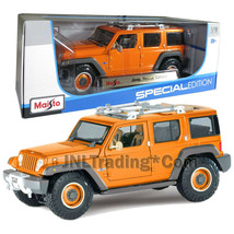 Maisto Special Edition 1:18 Scale Die Cast Orange SUV JEEP RESCUE CONCEPT  - $49.99