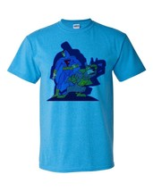 Blue Falcon T shirt Dynomut retro 80s Saturday morning cartoon heather blue tee image 2