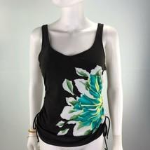 Christina Women's Size 10D Large  Black Floral Bikini Top Swimwear - $18.79