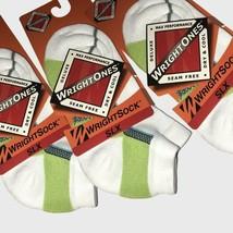 Set of 3 Wrightsock 153 Single Layer SLX Low Quarter Socks NEW White Sma... - $19.39