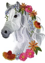 "[Custom] [HorseinWildflowers] Embroidery Iron On/Sew patch [7.8"" x 5.86""... - €17,04 EUR"