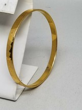 GERMANY Gold Tone Faceted Bangle Vintage Bracelet - $17.99