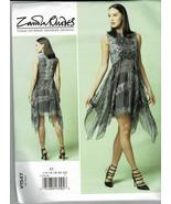 V1547 Vogue Pattern Easy Fitted Lined Dress Sizes 14-22 Shaped Hem Zandr... - $9.90
