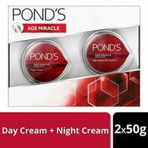 POND'S SPF 18 PA++ Age Miracle Wrinkle Corrector Day & Night Cream Combo, 50g - $48.90