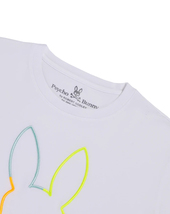 Men's Psycho Bunny Long Sleeve Tee Sheffield Embroidered Logo White T-Shirt image 3
