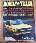 October 1976 Road & Track Magazine Ford Fiesta Jensen GT Rolls Royce Tri... - $7.39