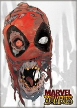 Marvel Zombies Deadpool Head Art Image Refrigerator Magnet NEW UNUSED - $3.99