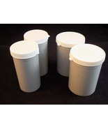 LOT of 4 SECURITAINER plastic vials w/ lids 2-62mm by 90mm, 2- 49mm by 1... - $7.91