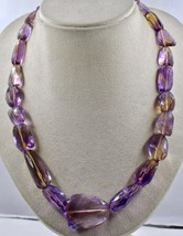 FINE NATURAL AMETRINE BEADS FACETED 778 CARATS CABOCHON GEMSTONE BEADS N... - $593.75