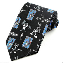 Looney Tunes Bugs Bunny Mens Neck Tie Licensed Cartoon Stamp Collection Necktie - $27.67