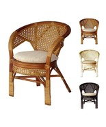 Rattan Wicker Pelangi Handmade Dining Chair 3 Colors w/Cushion - $148.49