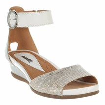 Earth Origins Leather Sandals with Metal Detailing - Stella Sabrina Silv... - $69.29