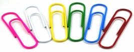 """Sterling 6 Pack  4"""" Inch 100mm Colore Large Jumbo Giant Big Paper Clips ... - $7.00"""