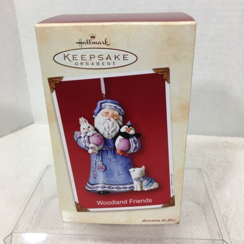 Primary image for 2002 Woodland Friends Hallmark Christmas Tree Ornament MIB Price Tag H2