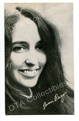 Primary image for JOAN BAEZ-ARCADE CARD-1960 G