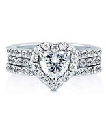 AndreAngel Wedding Rings Set Engagement 2 pcs Women White Gold 18K Plate... - $197.62