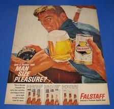 1964 Falstaff Beer Original Print Ad - Full Page Color - $9.50