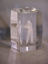 Male Golfer Teeing Off ( Golf ) - 3D Laser Etched Hologram Paperweight - $9.98