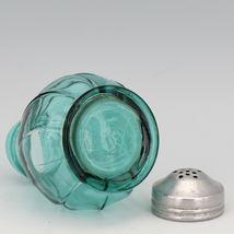 Jeanette Ultramarine Depression Glass Swirl Single Shaker - Correct Lid for Salt image 3