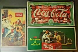1990 Drink Coca Cola- Circus Clown, Ballerina, Show Dog Tin Sign - $39.99