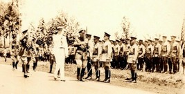 Vintage 1920's Military 3rd Engineers Photo - Troop Inspection with Civi... - $28.47