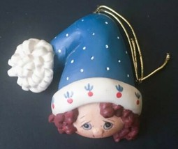 Vtg Enesco Pretty Faces Ornament Country Fair Collection Christina Mae R... - $11.87
