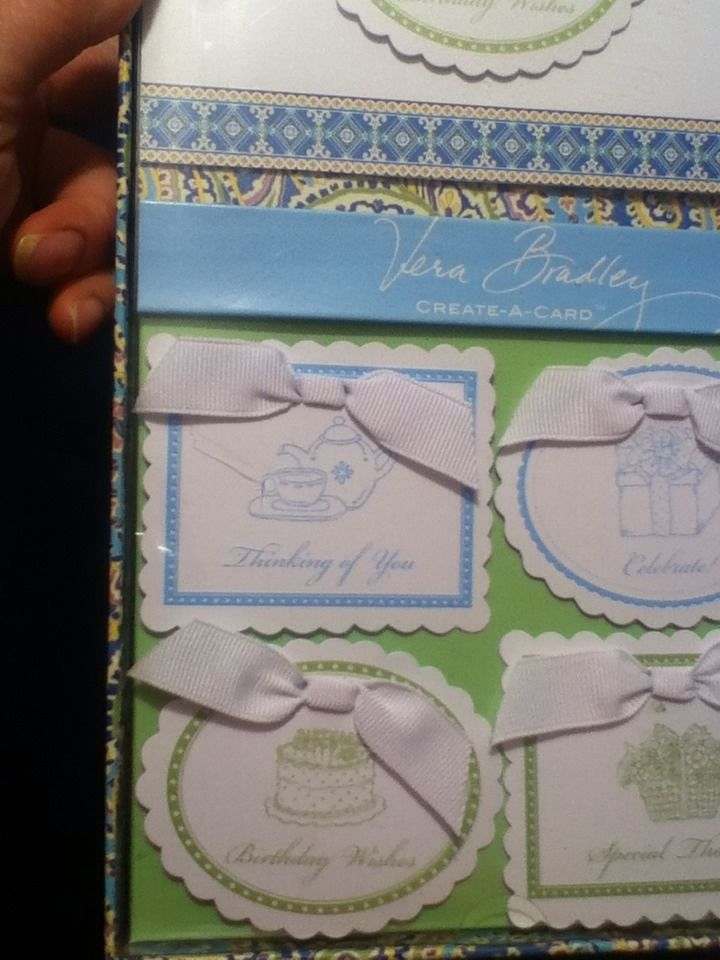 Vera Bradley Create-A-Card Multi-Occasions      New In Box
