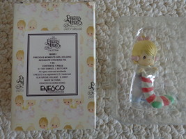 Precious Moments #169951 Girl Holding Red/White/Green Stocking (#3120) - $13.99