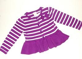 Gymboree Toddler Girls Striped Purple Sweater Size 18-24 Months NWT - $11.99