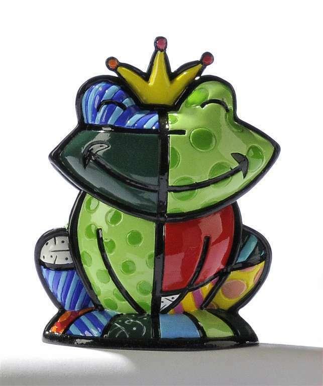 Romero Britto Retired Mini Frog - Prince Charming 3 Dimensional Figurine #331382