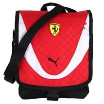 NEW NWT PUMA PREMIUM FERRARI F1 PORTABLE SHOULDER MESSENGER BAG RED PMMO1025