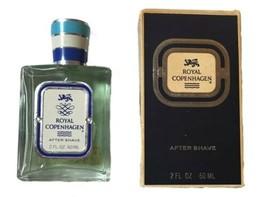 Vintage 2 Oz Bottle Royal Copenhagen After Shave For Men Blue 98% full - $23.36