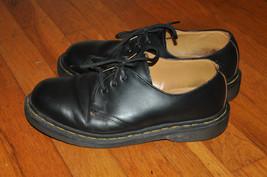 Men's Dr Martens 3 Eyelet Gibson Black leather classic shoes SZ US mens 6 - $39.99