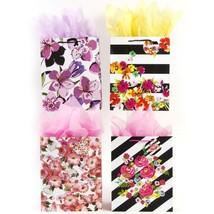 7 1/2W x 9H x 4G Medium Striped & Florals Glitter Bag, 4 Designs, Case o... - $211.76