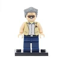 Stan Lee Marvel Comic Creator Custom Minifigure Building Blocks Toy - $2.45
