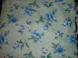 Set of 2 Liz Claiborne Tie Top Lined Panels 42 x 84 Green Blue Floral Vi... - $55.74