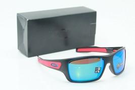 New Oakley OJ9003-1157 Turbine Black Prizm Saphire Iridium Sunglasses 58-15 - $172.98