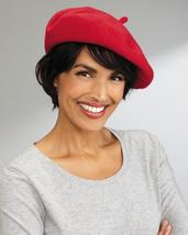 Toucan Collection Classic Wool Beret in Red, Black or Navy - $34.99