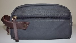 NEW TIMBERLAND TOP ZIP FRAMED FABRIC & LEATHER TOILETRY TRAVEL SHAVE KIT... - $24.70