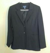 Ann Taylor Petites Womens Size 8P Black Pinstriped Blazer Suit Jacket - $29.70