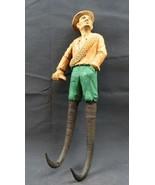Antique 1900 German Black Forest Carved Wood Figural Chamois Horns Hook ... - $450.00