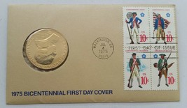 1975 Paul Revere Bicentennial First Day Cover Stamps with Bronze Coin - $27.71